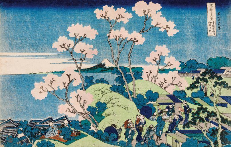 Katsushika Hokusai – Fuji from Gotenyama, at Shinagawa on the Tōkaidō Copyright: © TASCHEN/Museum of Fine Arts, Boston