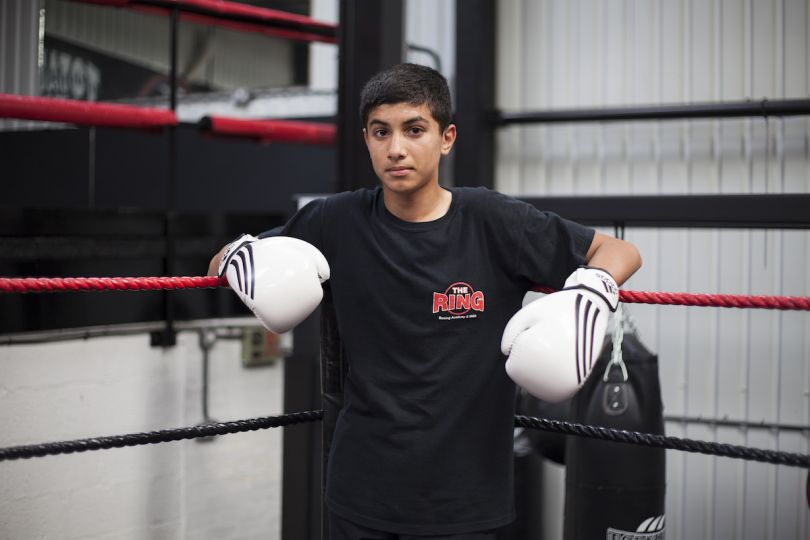 Mahtab Hussain Young boy, white boxing gloves from the series You Get Me? 2010 Courtesy of the artist