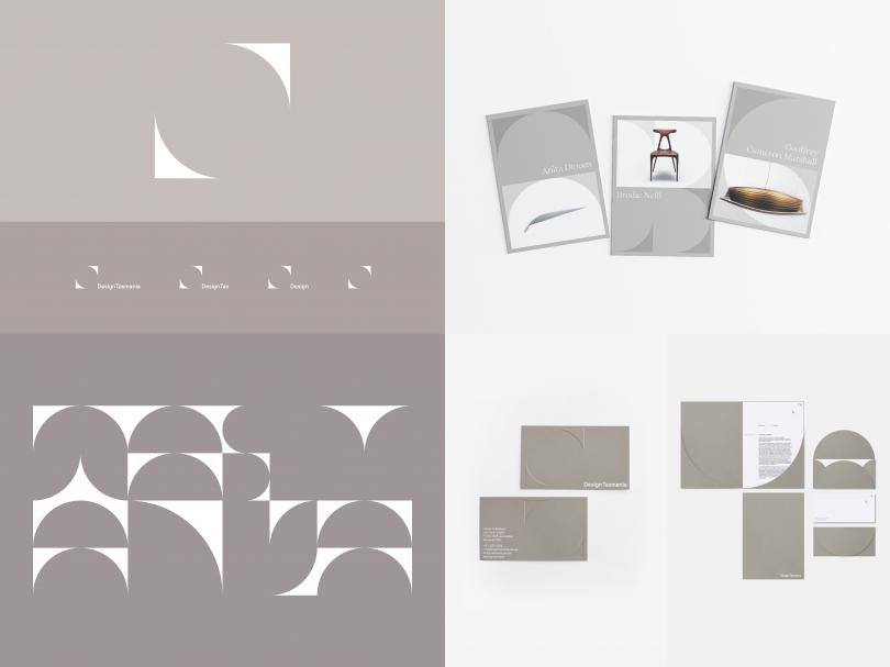 Design Tasmania Brand Marks, custom typeface, brochure and stationery design | Megan Perkins: Creative Direction, Concept & Design | Nick Rudenno: Variable Typeface Build & Animated Elements