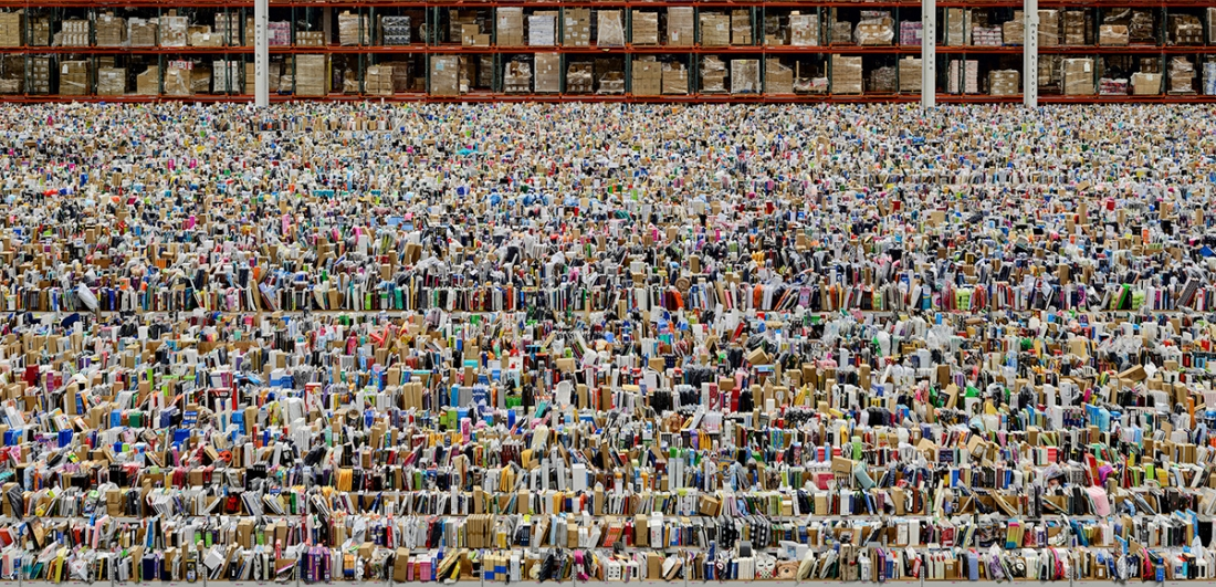 Andreas Gursky Amazon, 2016 Inkjet-Print 207 x 407 x 6.2 cm © Andreas Gursky/DACS, 2017 Courtesy: Sprüth Magers