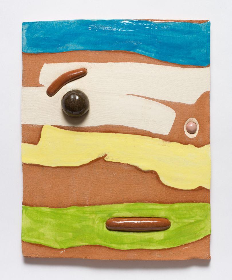 Jonathan Baldock, Maske IX, 2019, ceramic, 31 x 35 cm. Copyright Jonathan Baldock. Courtesy of the artist and Stephen Friedman Gallery, London