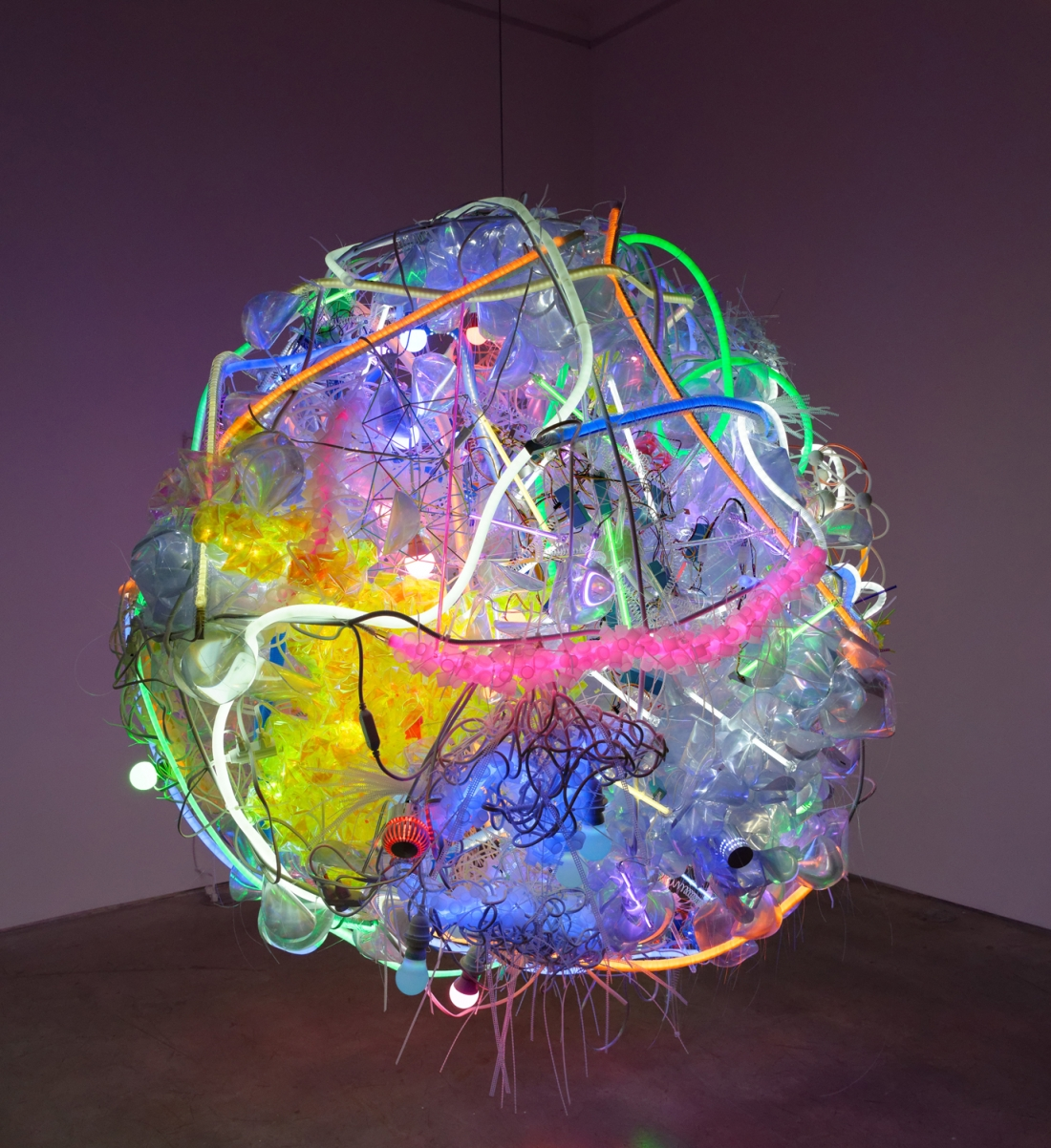 Bright And Chaotic Light Sculptures And Art Installations