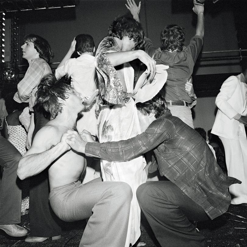 Dance Trio, Studio 54 NY, July 1977 ©Meryl Meisler