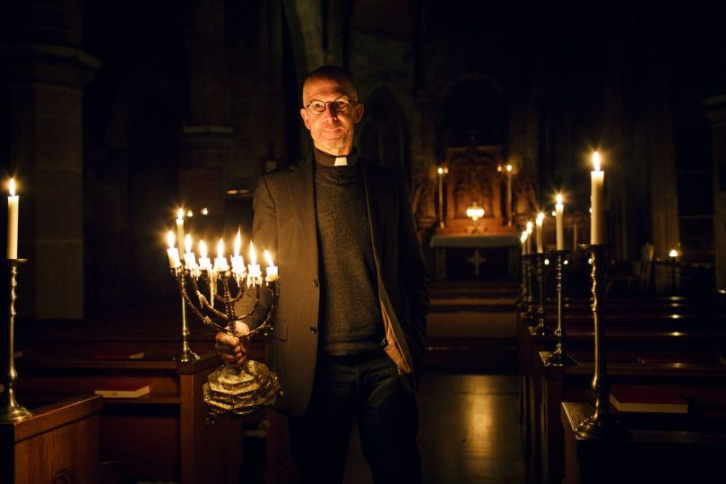 Reverend Nick runs the Anglican church in Stockholm which is part of the Diocese in Europe and has many English speaking people in his congregation. He describes life abroad as feeling clumsy.