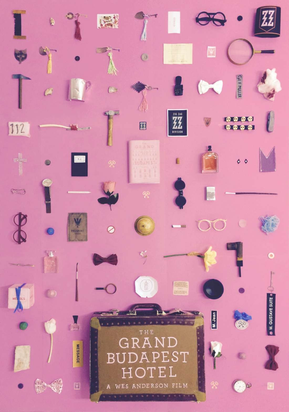 objects artist pays homage to wes anderson movies by