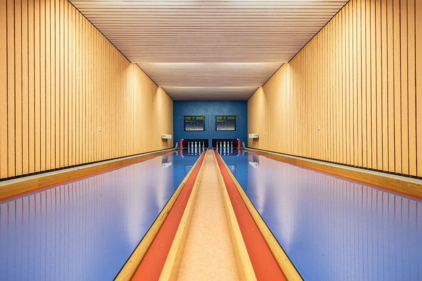 Wes Anderson-inspired photographs of vintage bowling alleys in Germany