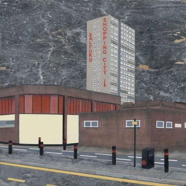 Mandy Payne: Precinct 1 (Spray paint and oil paint on marble)