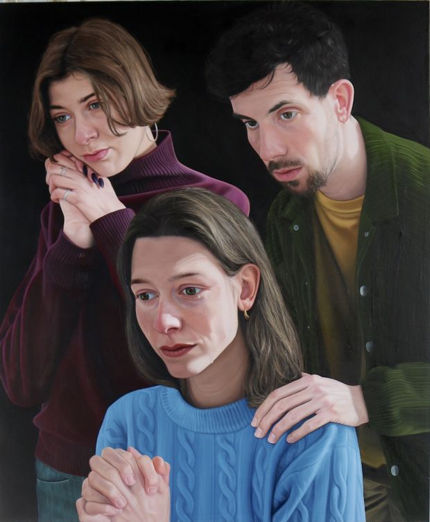 Tristan Pigott 'Wet to the touch' 2020, Oil on board, 58 x 70 cm (cropped)