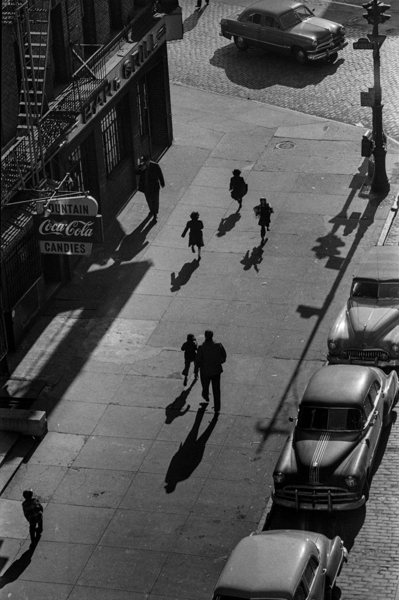 125th Street From Elevated Train, 1950 © Estate of Harold Feinstein All rights reserved