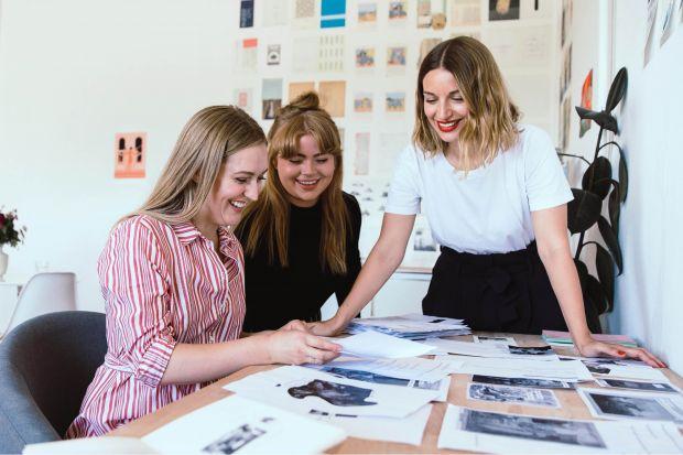 Lana Belton, Madeleine Berg, and Emma Skaaning of Studio Skulptur (Photo by Anthony Georgis)