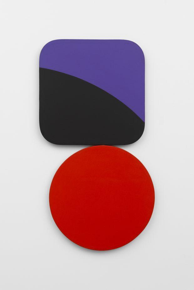 © Leon Polk Smith, Constellation – Square Circle Violet Black Red, 1967