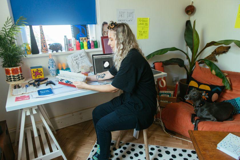 Nat Cook in her studio