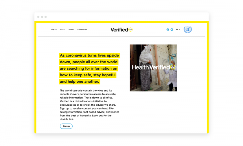 Design for Social Change of the Year: Verified by Purpose
