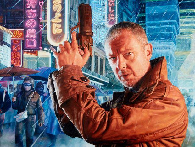 John Simm as Rick Deckard from Blade Runner Oil on Canvas 135 x 60cm