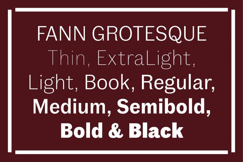 Fann Grotesque by Colophon