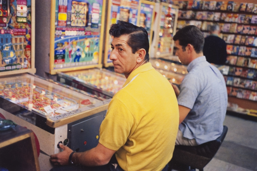 "William Eggleston Las Vegas (yellow shirt guy at pinball machine) ""Los Alamos"" Folio 4 1965-68 Dye Transfer Print PS W 508 x H 403"