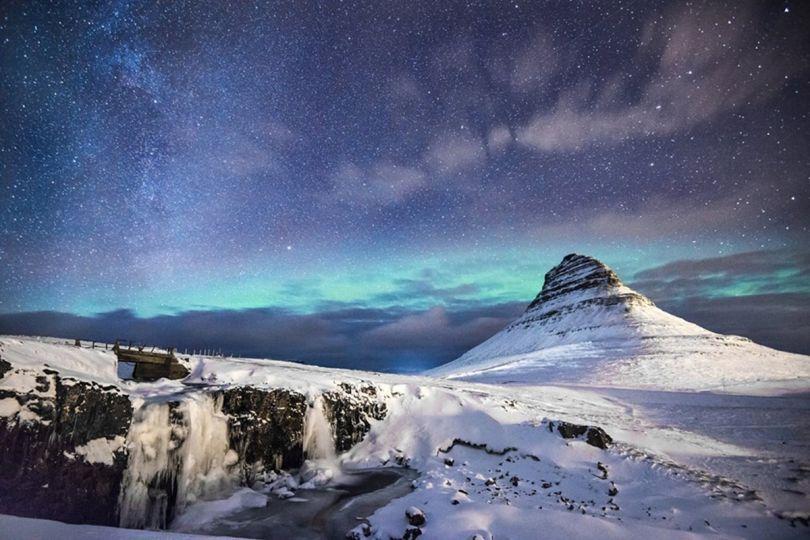 'Night at Kirkjufell' by Andrea Heribanova/Photocrowd.com - Iceland