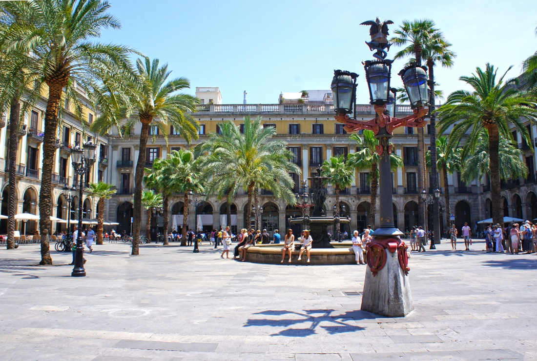 Plaza Real is a square in the Gothic Quarter in Barcelona, Spain |  Image courtesy of [Adobe Stock](https://stock.adobe.com/uk/?as_channel=email&as_campclass=brand&as_campaign=creativeboom-UK&as_source=adobe&as_camptype=acquisition&as_content=stock-FMF-banner)