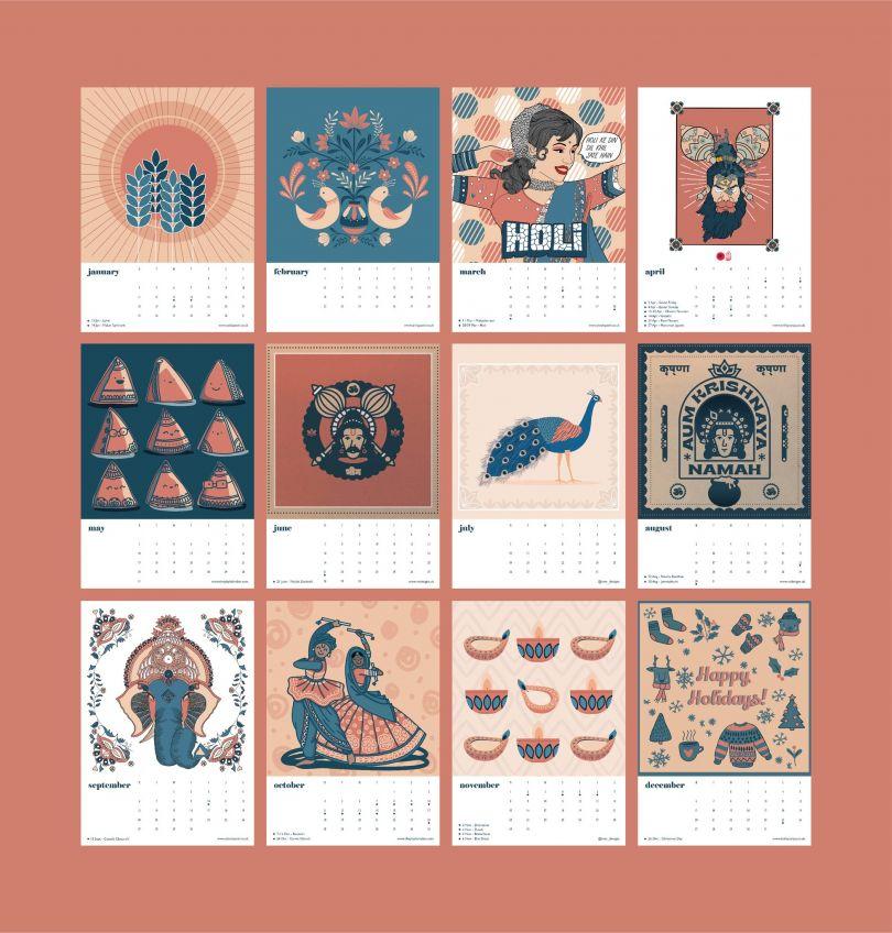 Indian Calendar 2021 by Anila Patel