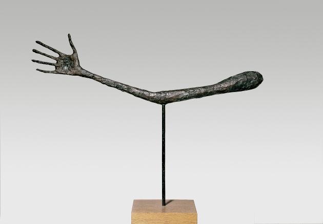 The Hand 1947 Bronze (cast 1947-49) 57 x 72 x 3.5 cm Kunsthaus Zürich, Alberto Giacometti Stiftung © Alberto Giacometti Estate, ACS/DACS, 2017