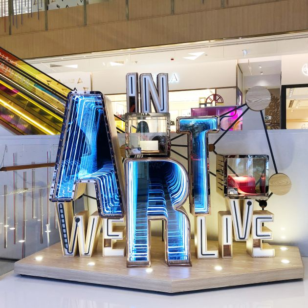 In Art We Live Visual Merchandising Art Installation by K11 Collaboration With Blue Mount is Winner in Arts, Crafts and Ready-Made Design Category, 2018 - 2019.