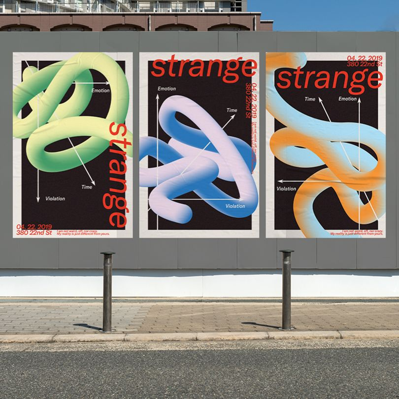 Strange Poster Series by Danyang Ma for Pratt Institute. Bronze A' Design Award Winner for Graphics and Visual Communication Design Category in 2019