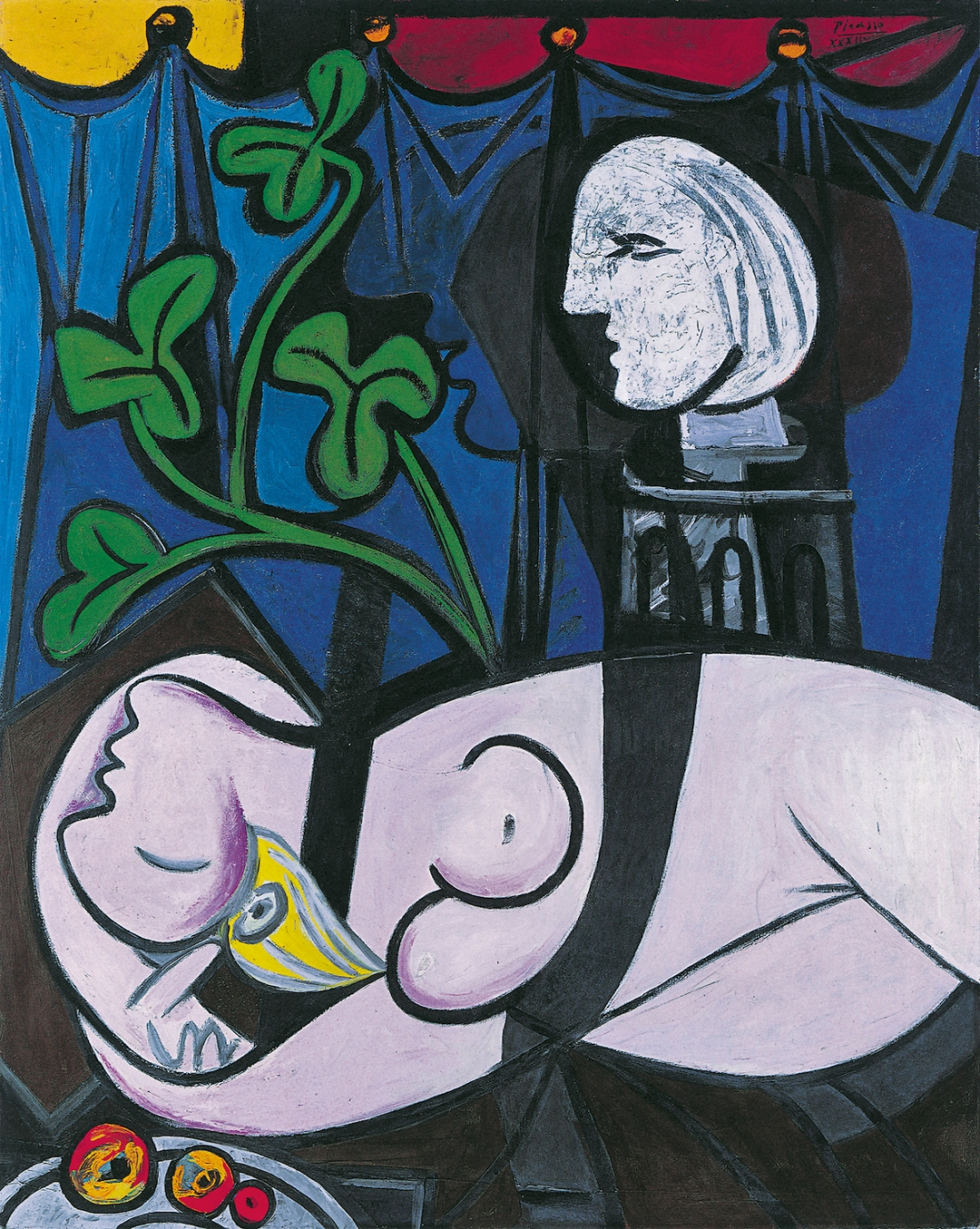 Pablo Picasso Nude, Green Leaves and Bust (Femme nue, feuilles et buste) 1932 Oil paint on canvas 1620 x 1300 mm Private Collection © Succession Picasso/ DACS London, 2017