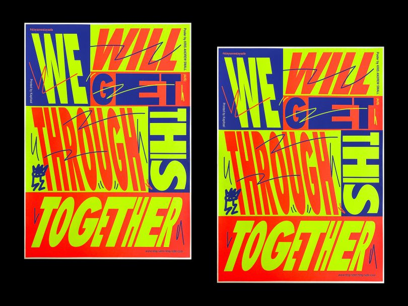 SSSS screen print collaboration with Kapitaal Utrecht, designed by Kris Andrew Small