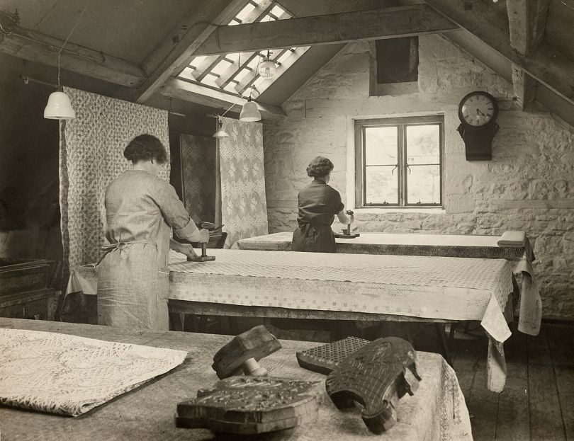 Barron and Larcher's workshop. Courtesy Crafts Study Centre, University for the Creative Arts