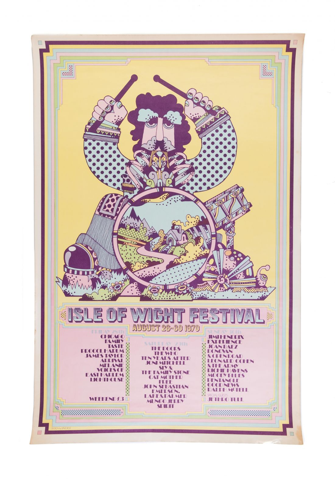 Isle of Wight Festival (1970). Vintage one off, £350.