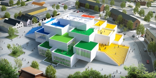 LEGO® House: from the side