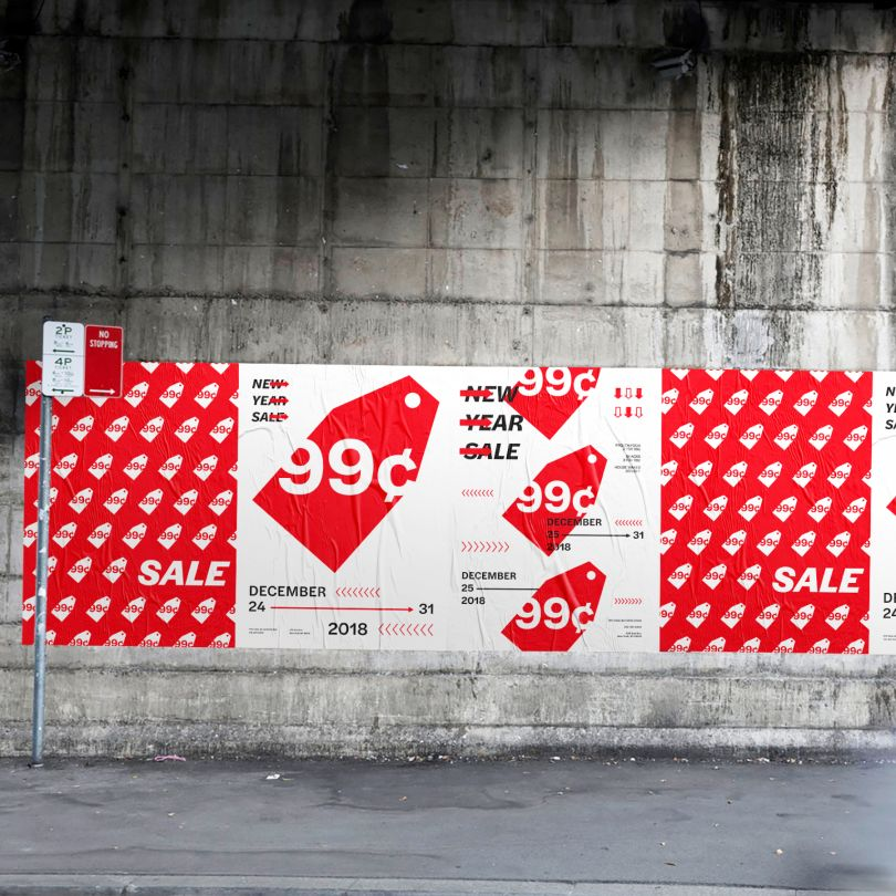 NYC Deal 99 Cent Store Brand Identity by Chi Hao Chang. Winner in the Graphics and Visual Communication Design Category, 2019-2020.