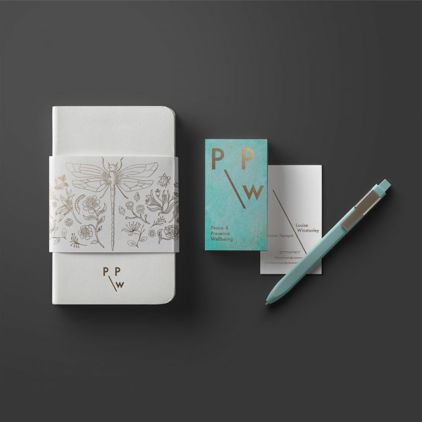 Peace and Presence Well-Being Branding by Lisa Winstanley is Winner in Graphics and Visual Communication Design Category, 2019 - 2020
