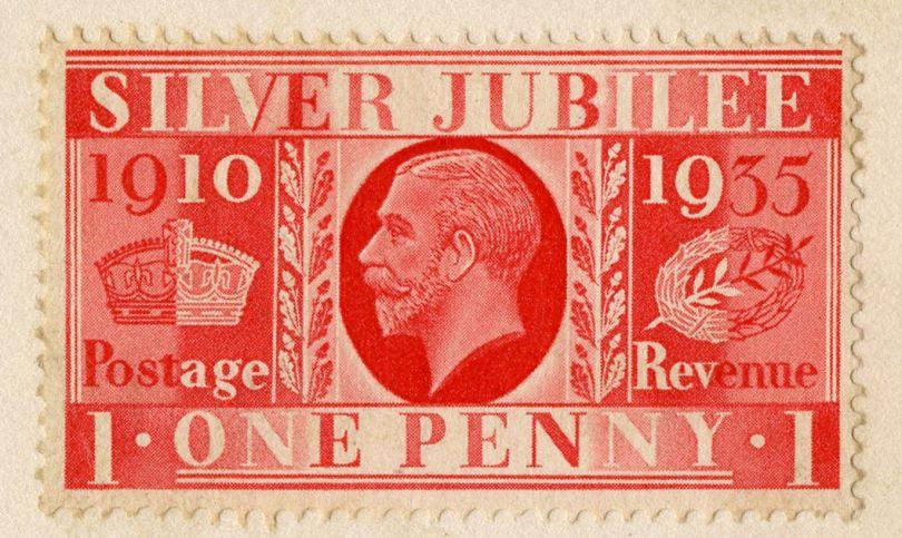 Barnett Freedman, Silver Jubilee postage stamp, 1935 Manchester Metropolitan University Special Collections © Barnett Freedman Estate