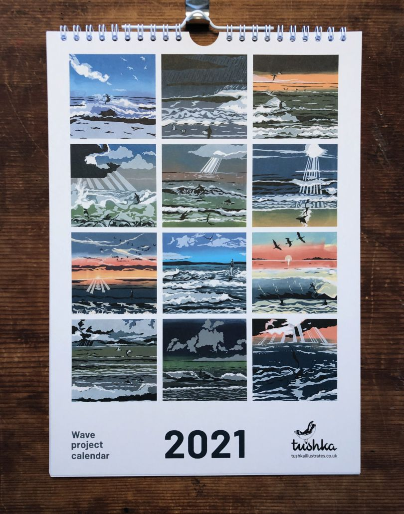 Wave Project calendar by Chrissy Mouncey