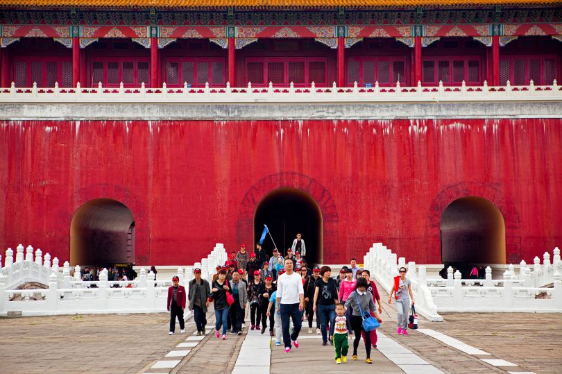 Tour Group, Palace of Ming and Qing Dynasties, Hengdian World Studios © Mark Parascandola