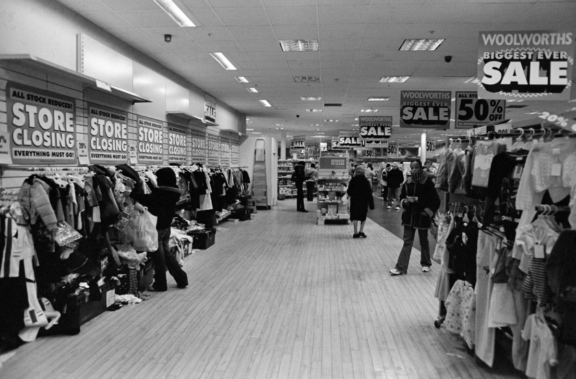 The last day of trading at Woolworths. Mare Street, Hackney - 2009
