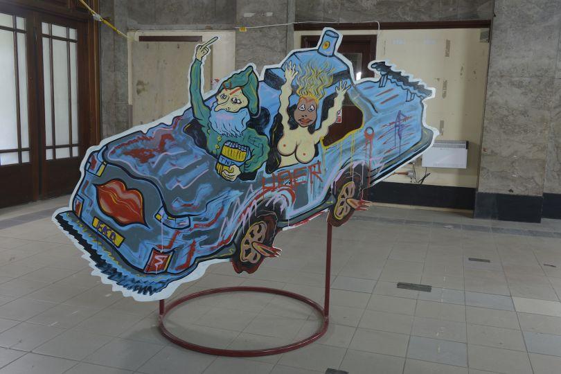 Hardeep Pandhal - Self-Loathing Flashmob, installation detail, 2018 Courtesy of Alan Dimmick