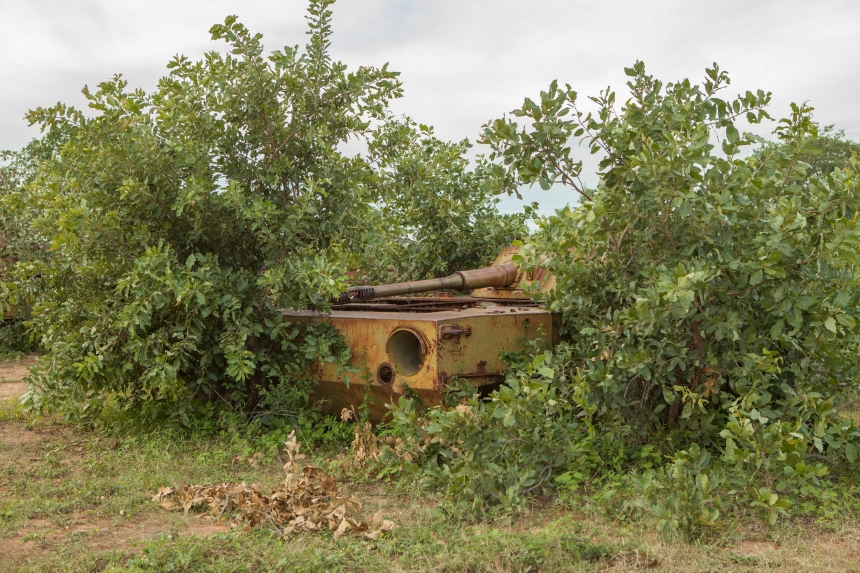Cemetery of tanks, rusting since 1975, which were abandoned en route to Luanda for the proclamation of independence from Portugal