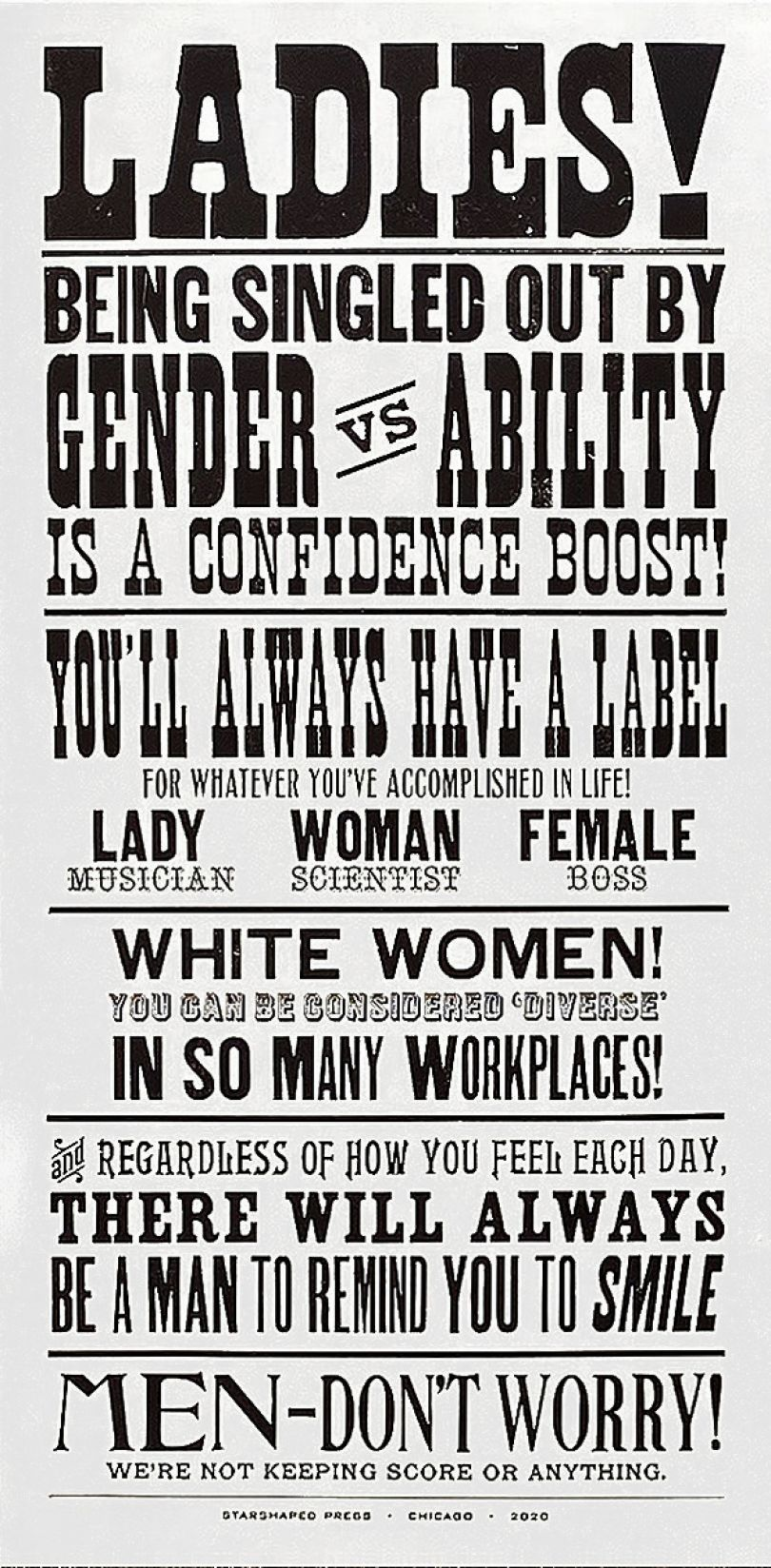 Ladies! Being Singled Out by Gender vs. Ability is a Confidence Boost! © Jennifer Farrell, Starshaped Press