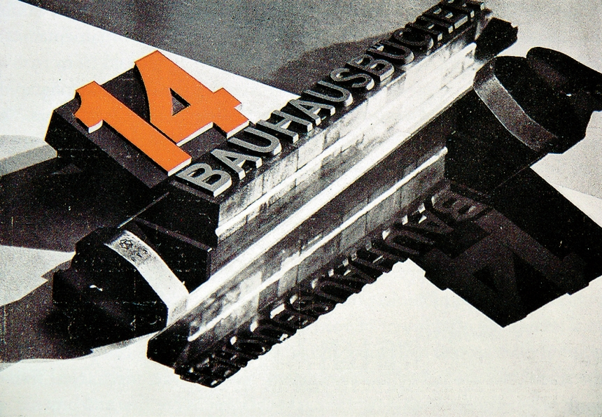 Bauhaus programmes, book, László Moholy-Nagy, Herbert Bayer, Walter Gropius, 1922 to 1931, Bauhaus, Germany: Bauhausbücher 14 by László Moholy-Nagy, 1929