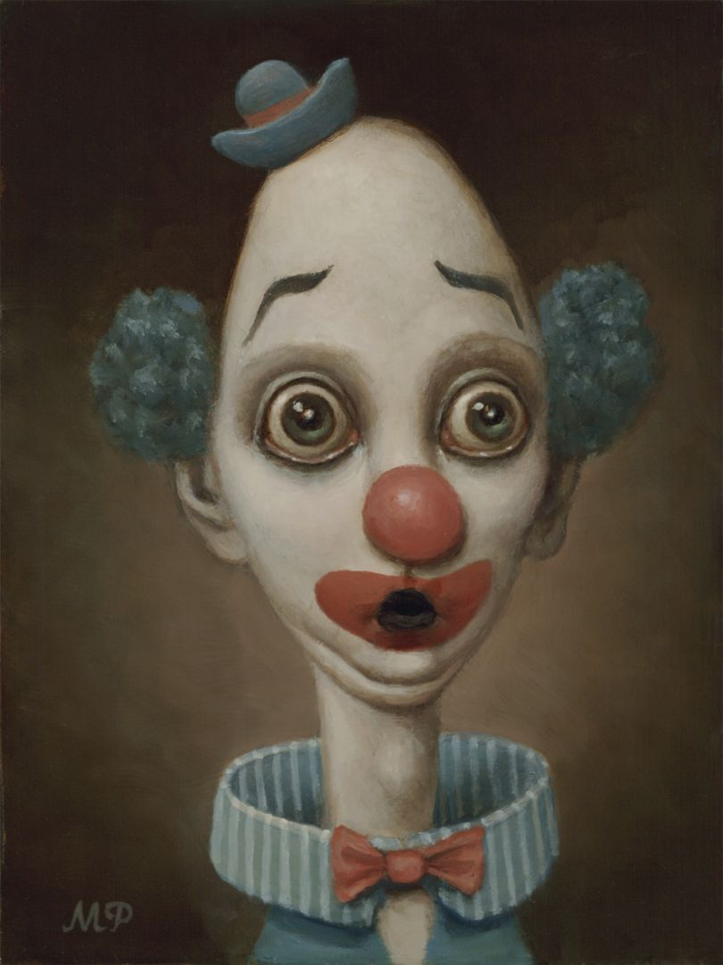 From the series Red Clown, Blue Clown © Marion Peck