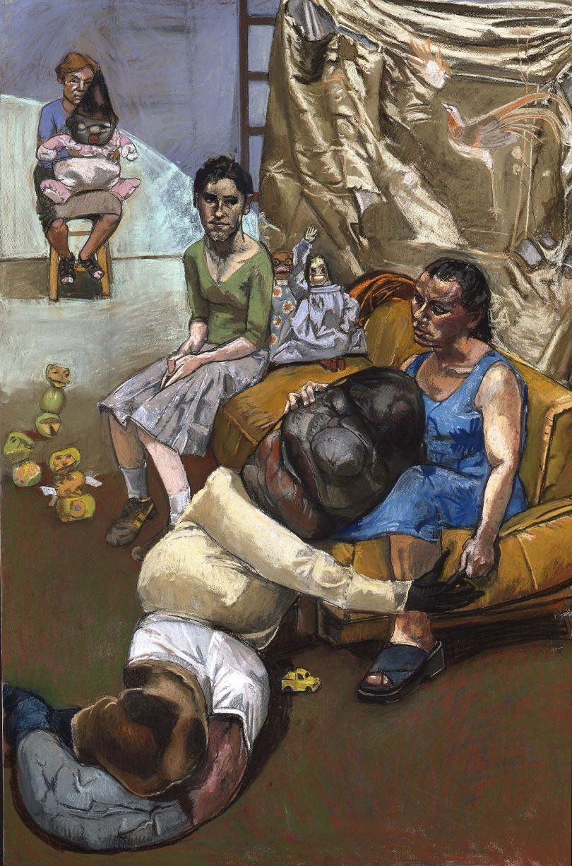 Paula REGO (b. 1935) The Pillowman, 2004, (right-hand panel of a triptych) Pastel on board, 180 x 120 cm Collection: Private Collection © Paula Rego, courtesy of Marlborough, New York and London