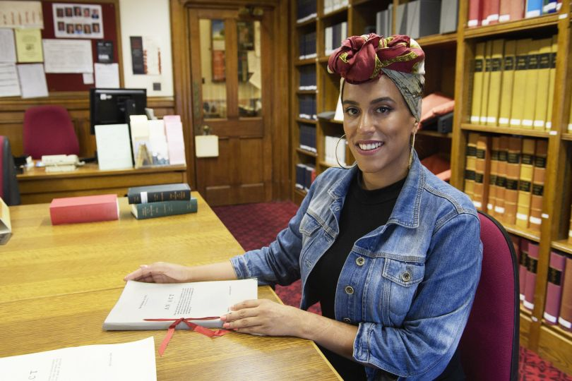 Race Relations Act artist Scarlett Crawford © UK Parliament/Jessica Taylor