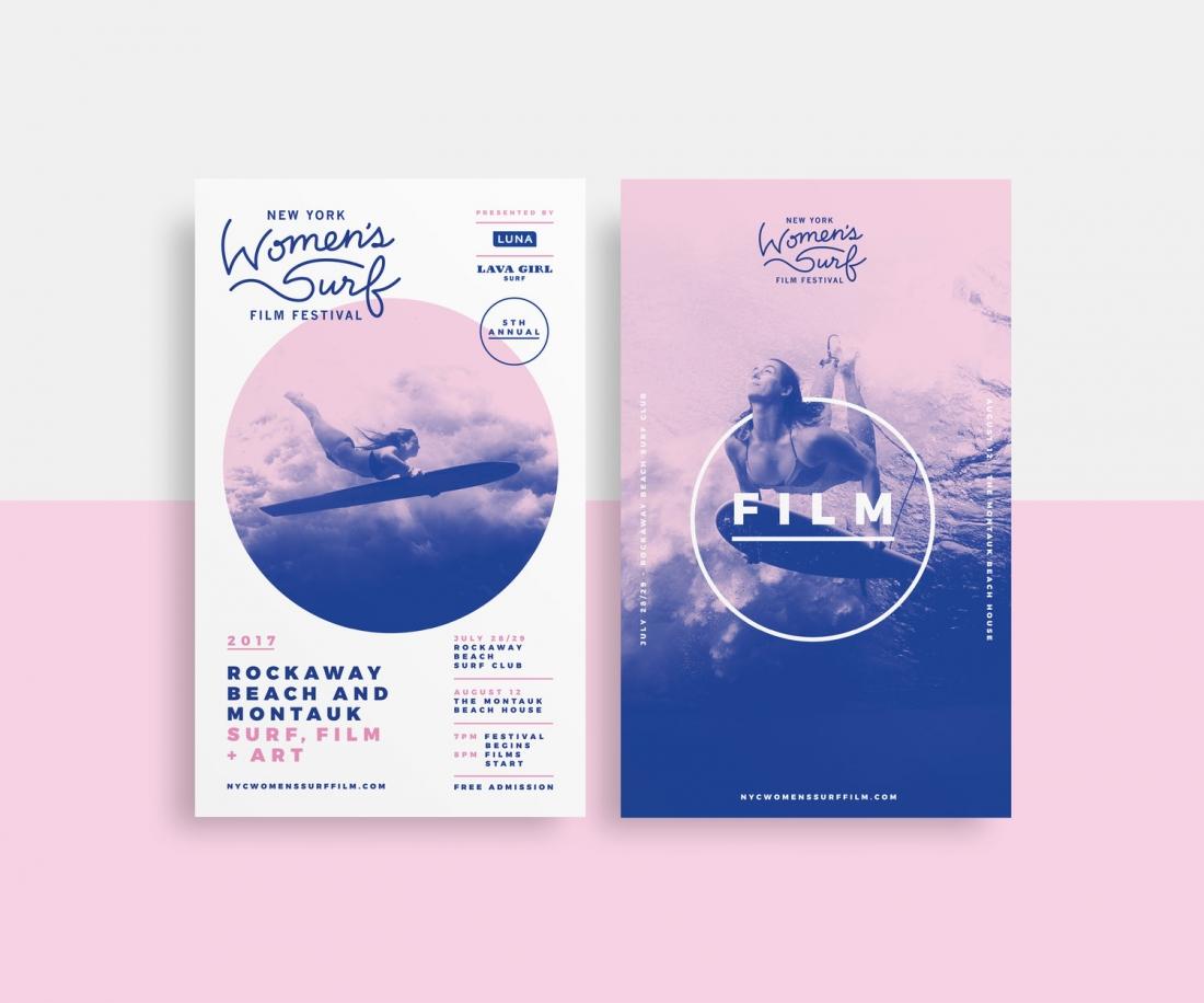 Work for the New York Women's Surf Film Festival  