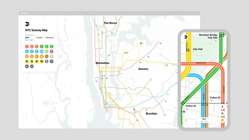 Digital Design of the Year: Live Subway Map by Work & Co