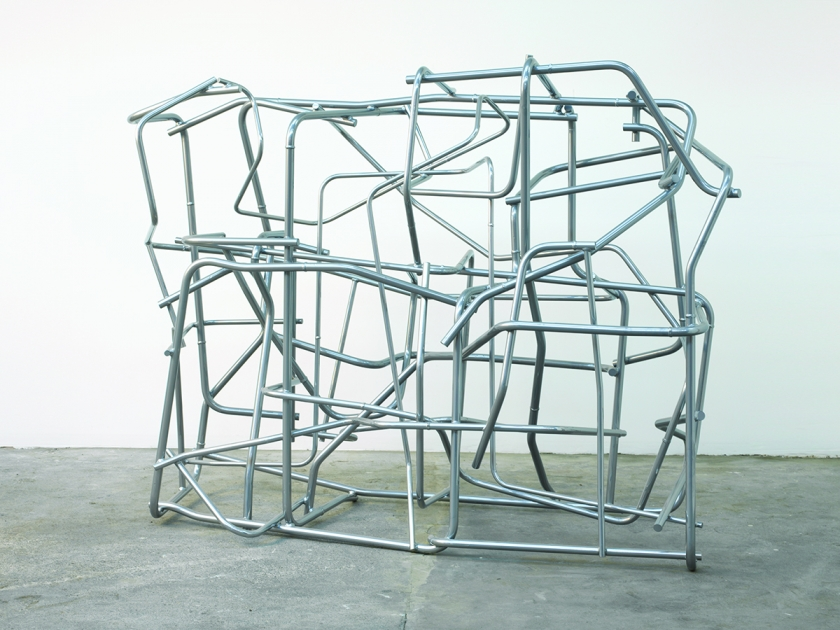The Ventriloquist, 2015, Powder coated aluminium, Unique, 180 x 241 x 117 cm, POA