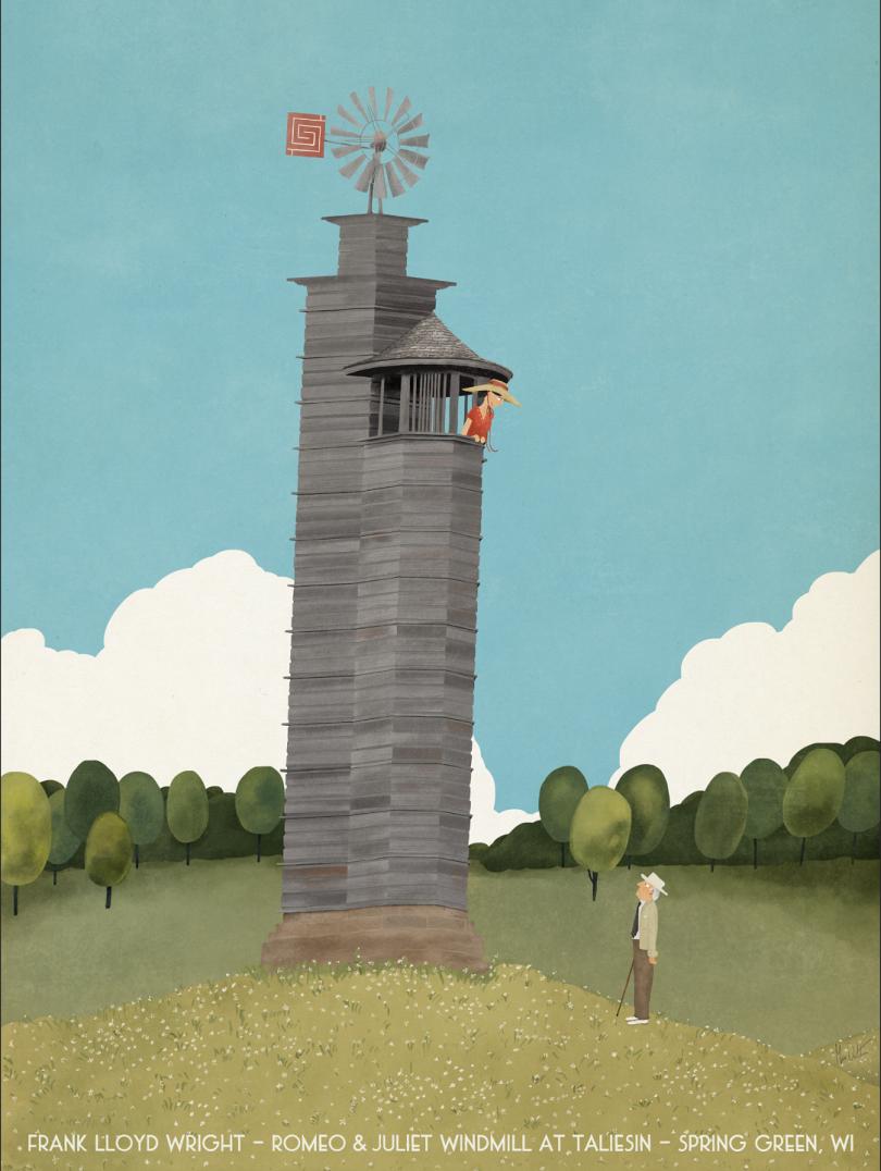 Romeo & Juliet, Windmill at Taliesin © Max Dalton