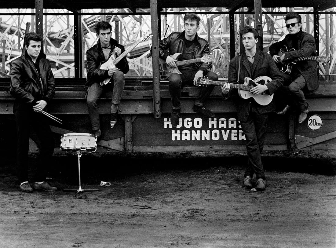 Astrid Kirchherr, The Beatles at the fairground, 1960