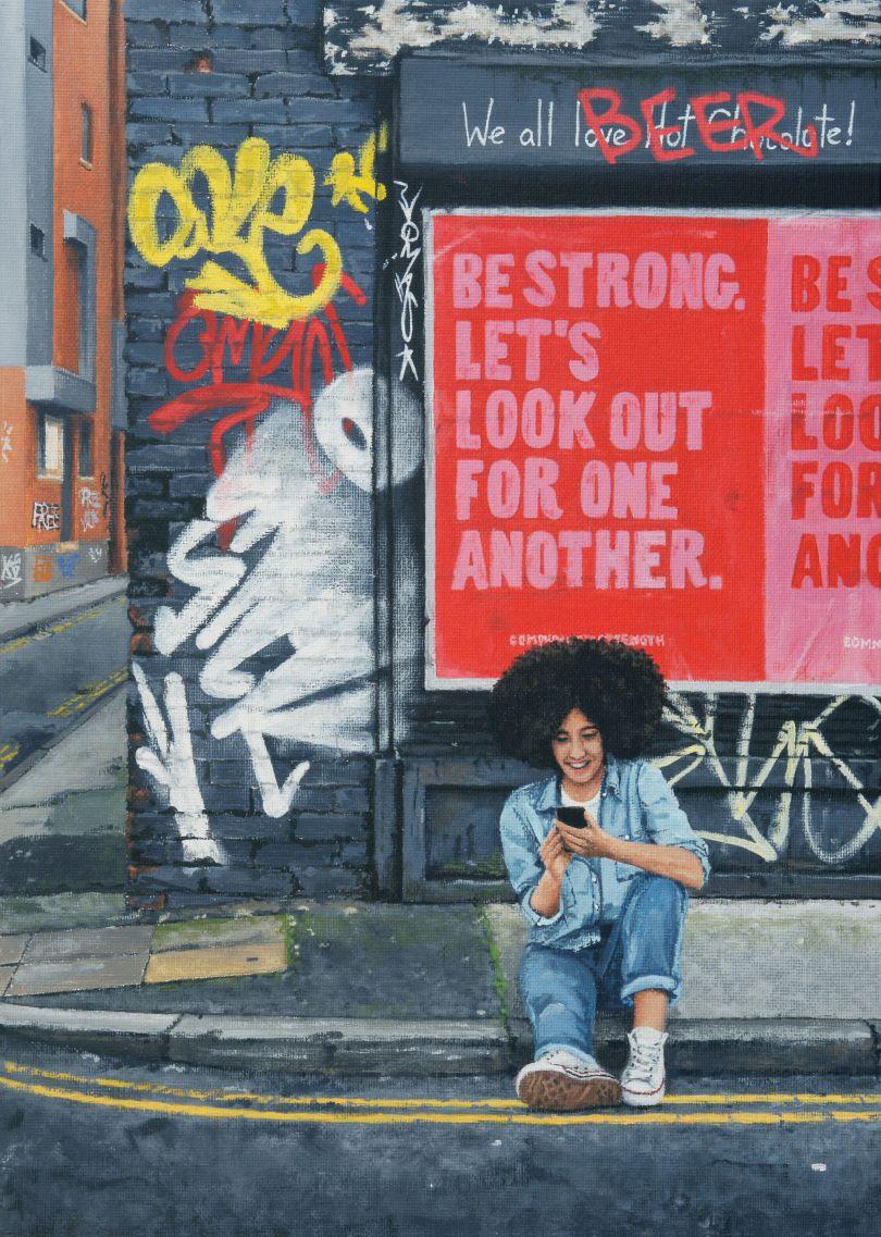 Be Strong, Northern Quarter, 2021 © Peter Davis